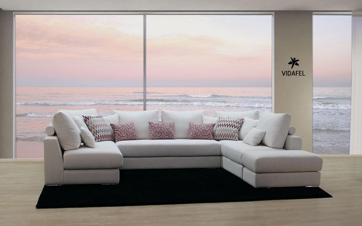 Sofa rinconera de diseño Roy | VIDAFEL Sofas