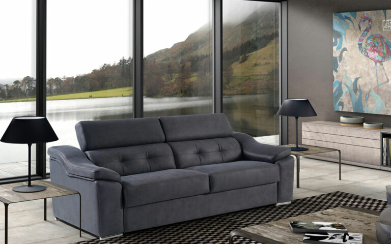 Sofa cama Danubio con mecanismo de apertura italiano