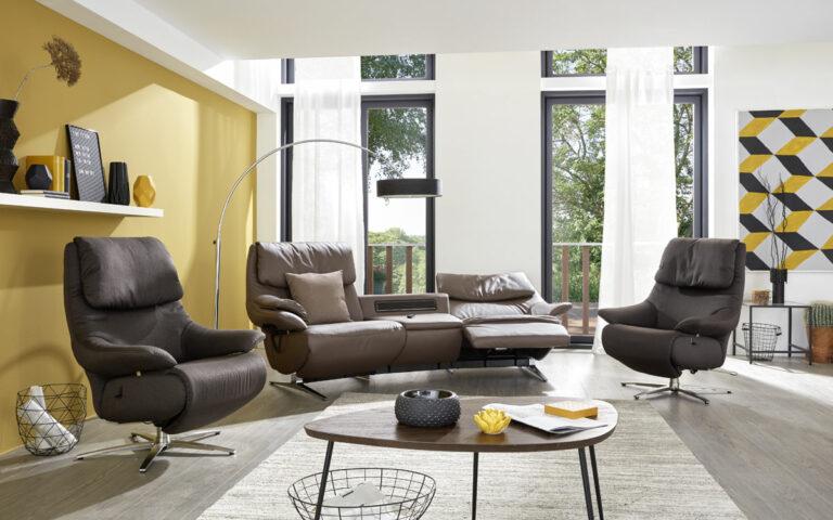Sofa relax Stuttgart y Sillon relax Nuremberg de Himolla