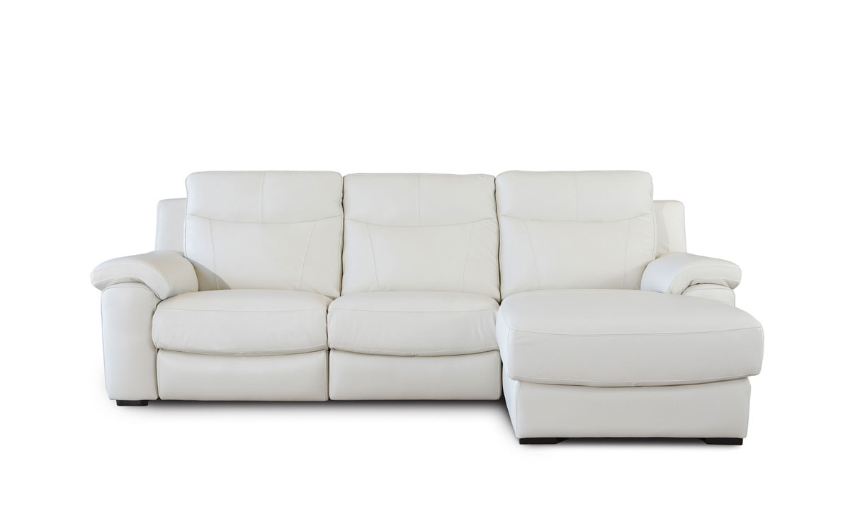 Sofa relax con cheslong en piel Ruben