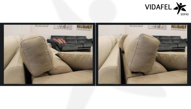 Cabezal reclinable sofás
