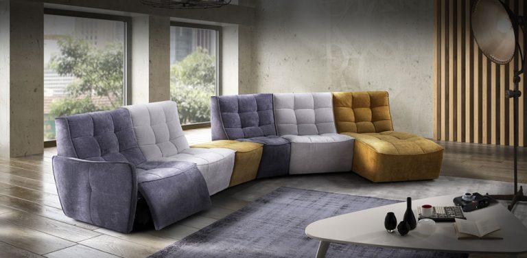 Sofa modular en tela relax de Vidafel sofas