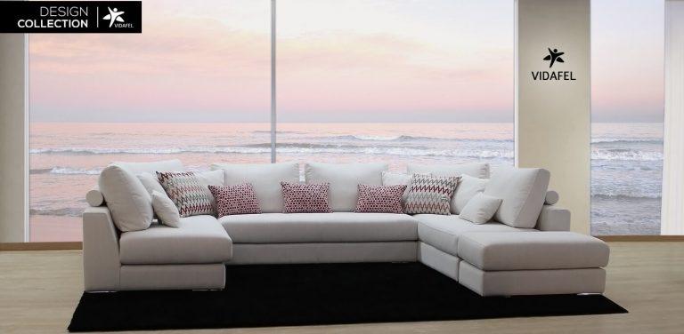 Sofá rinconera Roy, Sofá en tela muy cómodo de diseño moderno. formado por sofá de tres plazas, chaise longue, cheslon y cheslong. respaldo liso de fibra, respaldo de línea recta con rulo.