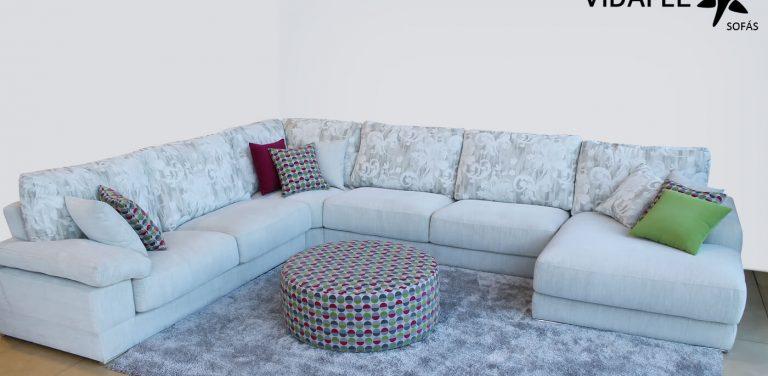 Sofá rinconera en Tela, cómoda, de diseño, brazos con almohadilla, asientos deslizantes, asientos extraíbles, calidad, cheslon, cheslong, chasie longue, sofá de tres plazas, sofá de 3