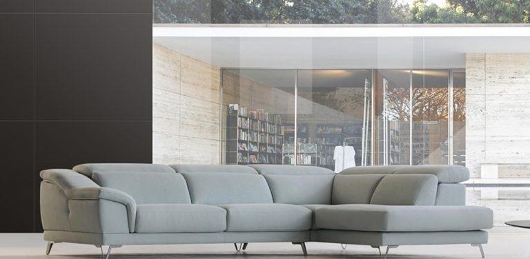 Rinconera con asientos deslizantes, extraíbles, cabezales italianos reclinables, pata alta metálica, de diseño, moderna, sofá de 3 plazas, rincón y módulo terminal con una plaza, muy cómoda